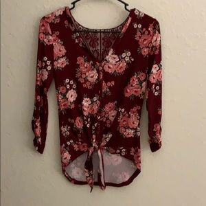 No boundaries long sleeve shirt with lacy back